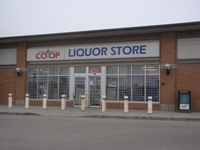 Store front for Calgary Co-Op Liquor Store