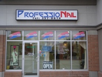 Store front for Professional Nail