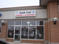 Store front for South Trail Fashions and Alterations