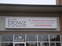 Store front for Browz Eye Ware