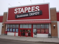 Store front for Staples Business Depot