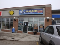 Store front for Joey's Only Seafood Restaurant