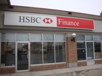 Store front for HSBC Finance