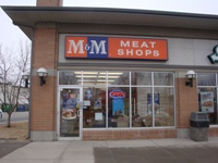 Store front for M&M Meat Shops