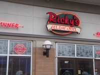Store front for Ricky's All Day Grill