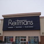 Store front for Reitmans