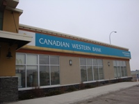 Store front for Canadian Western Bank