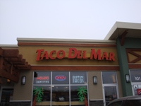 Store front for Taco Del Mar