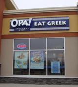 Store front for Opa Eat Greek