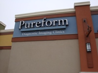 Store front for Pureform Diagnostic Imaging Clinic